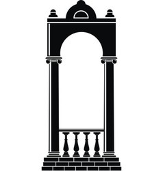 Silhouette of an arch vector