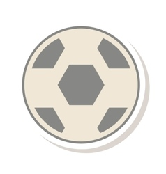 Soccer balloon sport icon vector