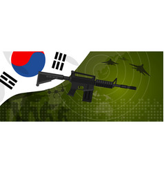 South korea military power army defense industry vector