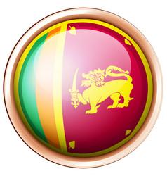 sri lanka flag on round button vector image vector image