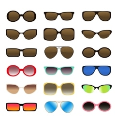 Sunglasses set - 1 vector image vector image