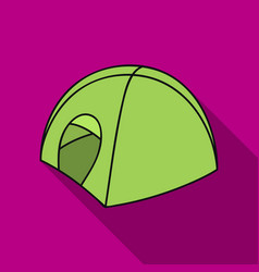 tent icon in flate style isolated on white vector image vector image