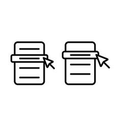 thin line menu scrolling icon vector image vector image
