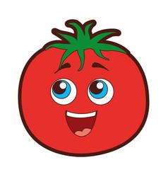Tomato vegetable kawaii character vector