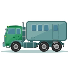 Truck with Trailer to Transport People vector image
