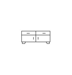 tv stand line icon vector image