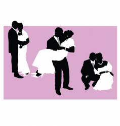 wedding couple vector image vector image