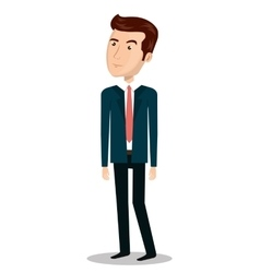 Businessman character person icon vector