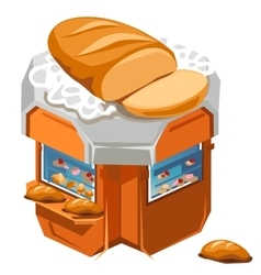 Shop for sale fresh bread and pastries vector