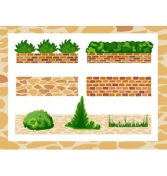 Set of elements for landscape design vector