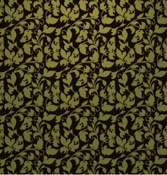 Seamless pattern green vector