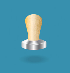 tamper coffee vector image