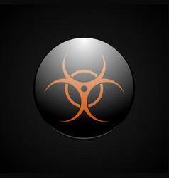 Biohazard orange symbol vector