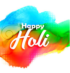 abstract colorful holi festival background vector image