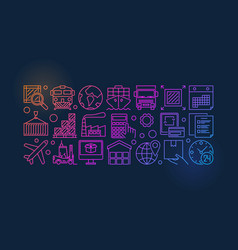 delivery and logistics colorful vector image