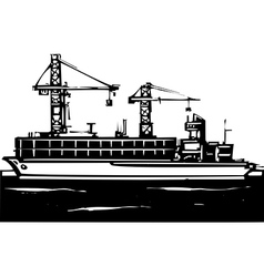 Container Ship vector image