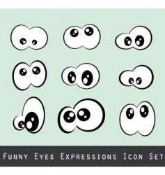 Funny eyes vector