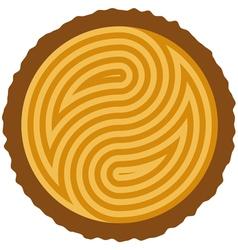wooden log cut vector image