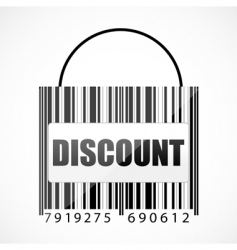 Barcode discount bag vector