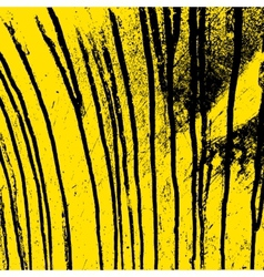 Texture yellow wall with black streaks stains vector