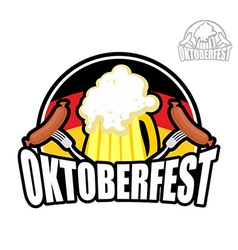 Beer festival oktoberfest in germany beer mug on vector