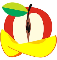 Composition of fruits apple and mango vector