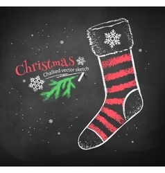Striped christmas sock vector
