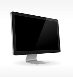 Black lcd screen sideview vector