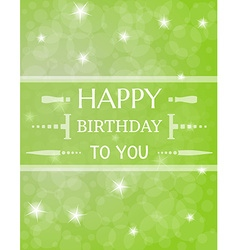 Birthday card with shinning stars vector