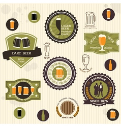 Beer badges and labels in vintage style vector