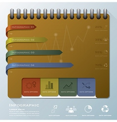 Organize notebook business infographic design vector