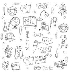 School flat doodles collection vector