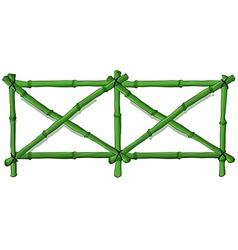 A green bamboo fence vector