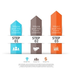 Arrows infographic 3 steps to success vector