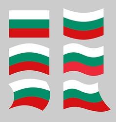 Bulgaria flag set of flags of bulgarian republic vector