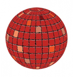 ceramic tiles sphere vector image