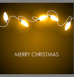 Christmas background with golden lights vector