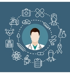 Doctor with a stethoscope vector image
