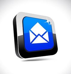 E-mail 3d square button vector