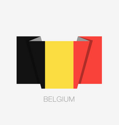 Flag of belgium flat icon waving flag with vector
