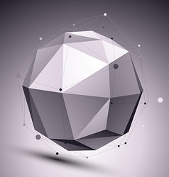 Geometric monochrome orbital structure with wire vector