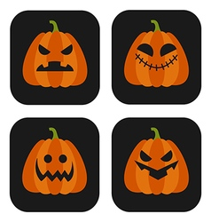 Halloween Pumpkin set vector image