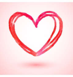 Hand drawn Valentine heart vector image vector image