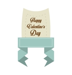 Happy valentines day card blue banner vector