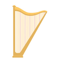 harp icon golden stringed musical instrument vector image vector image