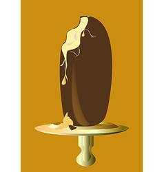 Ice creams on a stick vector image vector image