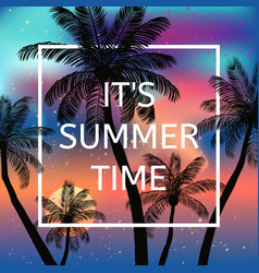 It is summer time background vector
