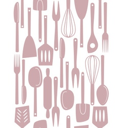 kitchen utensils seamless vector image