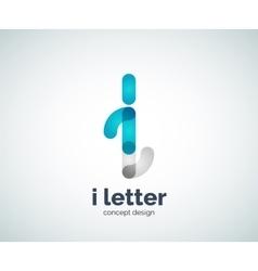 Letter i logo vector image