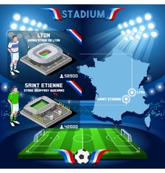 Lyon st etienne soccer stadium vector